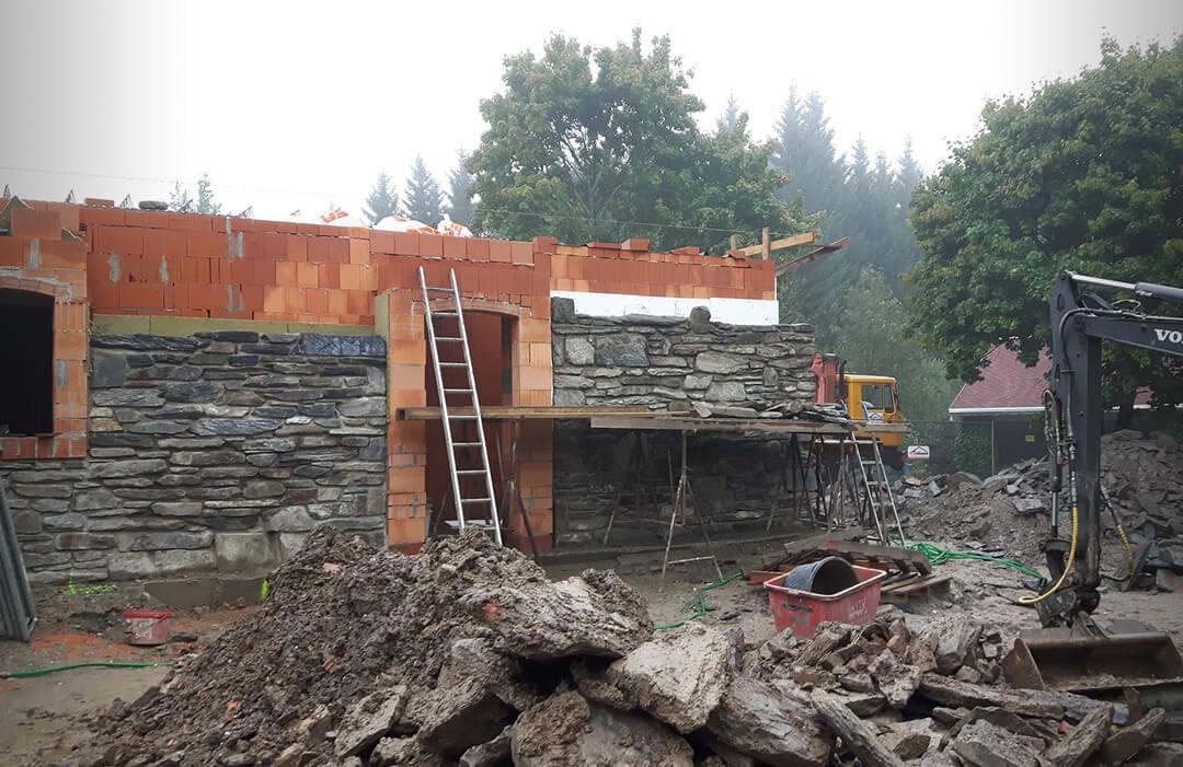 Fortschritt der Bauarbeiten