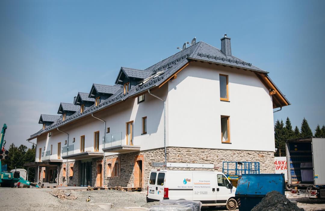 Das Tannenhaus, nachdem abgerüstet wurde