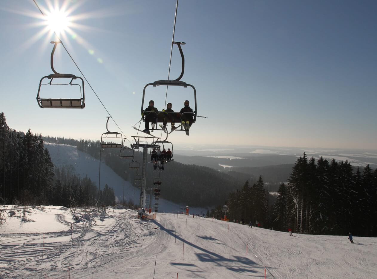 Skilift der Skiwelt Schöneck
